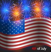 Vector 4th of july background. USA Independence Day poster