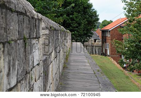 View Along York Wall