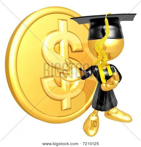 Mini Gold Guy Graduate With Gold Coin