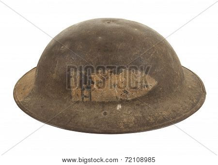 A U.S. World War One Army Soldier's Doughboy Steel Combat Helmet