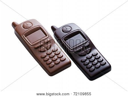 Cell phones made ??of dark and milk chocolate