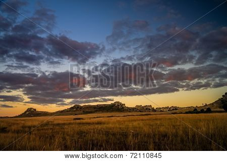 Sunrise in Park National Isalo