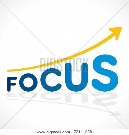 creative focus word graph design vector
