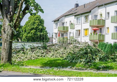 Storm Damage Due To Severe Weather