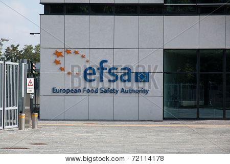 Efsa headquarters. European food safety authority.