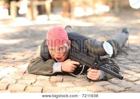 Boy With Paintball Gun