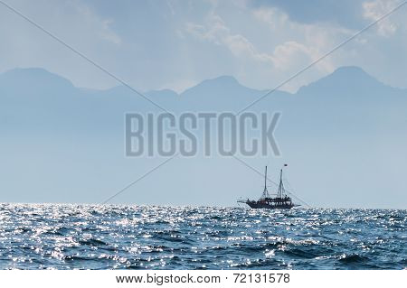Sea view with boat