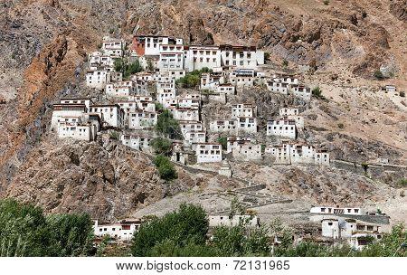 Karsha gompa - buddhist monastery in Zanskar valley - Ladakh - Jamu and Kashmir - India poster