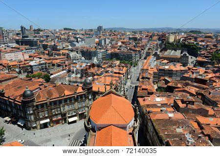 Porto Old City aerial view, Portugal