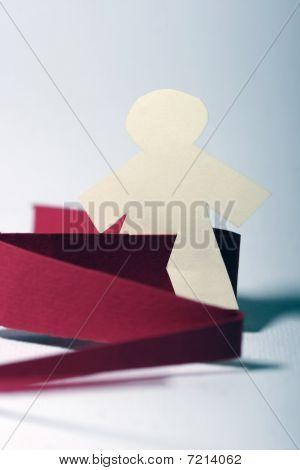 Little Paper Man In Danger