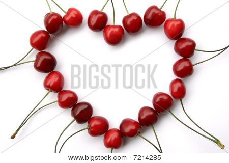 Stock Photo Of A Cherry Heart