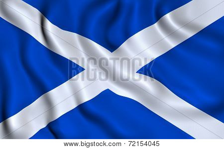 Flag of Scotland. Saint Andrew's Cross