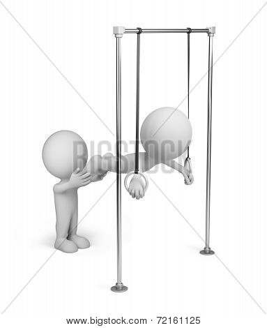 3D Person On Gymnastic Rings