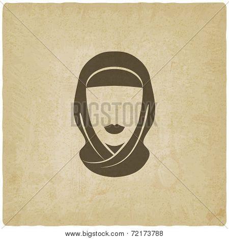 Arabic woman avatar old background
