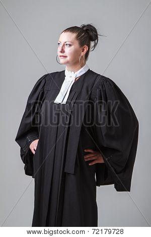 Lawyer Looking Afar