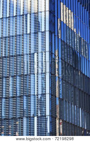 Abstract Glass Building Skyscraper Reflection New York City Ny