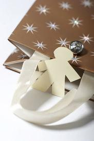 Little Paper Man Shopping