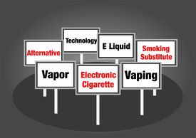 Electronic cigarettes signs