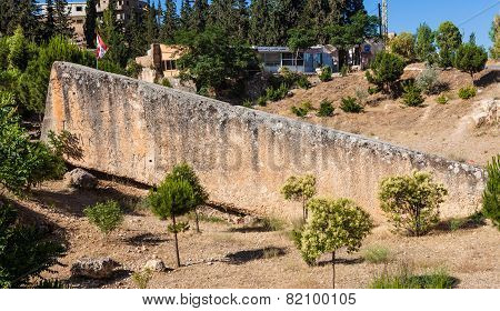 The largest stone in the world in Baalbeck (ancient Heliopolis) Lebanon.