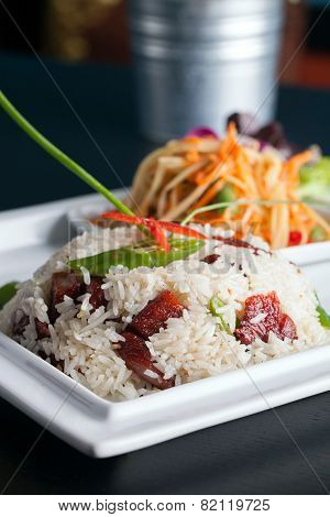 Thai Pork and Rice Dish