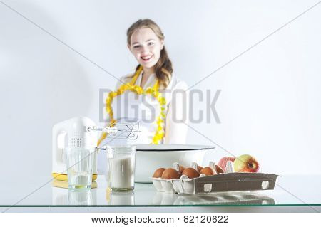 Homemaker In Kitchen