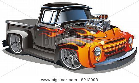 vector cartoon hot-rod