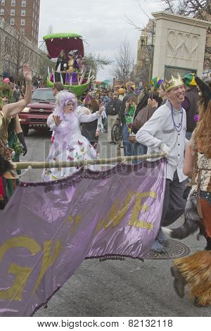 Mardi Gras Misrule On Parade