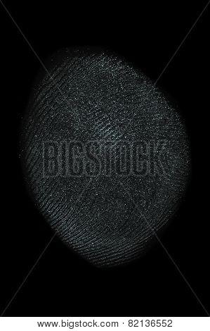 Fingerprint On Black