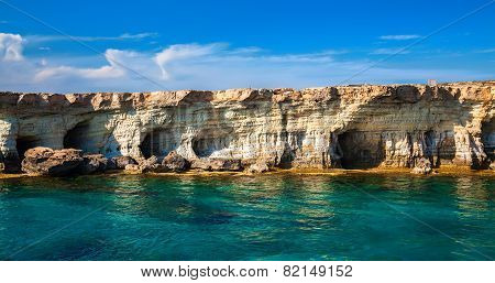 Sea Caves At Cape Greco, Cyprus
