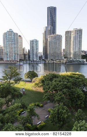 Brisbane cityscape and James Warner Park