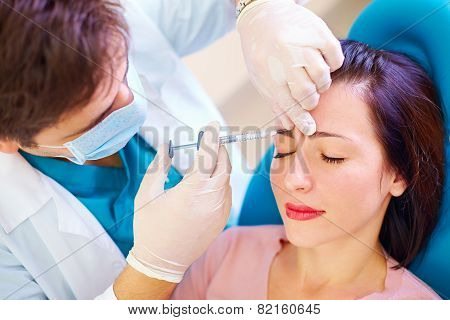 Beautiful Girl On Rejuvenation Procedure In Beauty Clinic