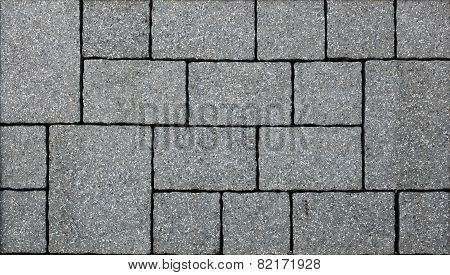 poster of A gray concrete pavement sample texture image.