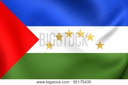 Region Autonoma Del Atlantico Sur Flag, Nicaragua.