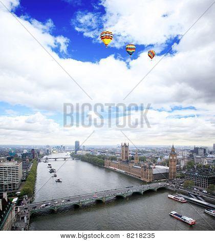 Vista aérea da cidade de Londres