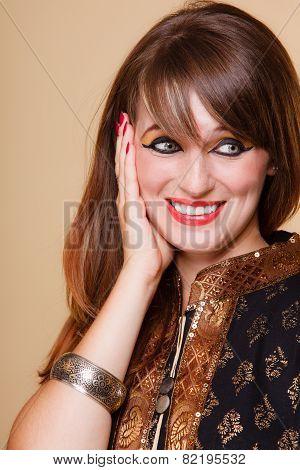 Portrait Orient Girl With Makeup