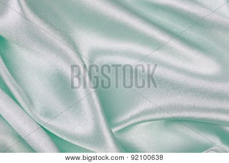 Light Green Silk Cloth Of Abstract Backgrounds