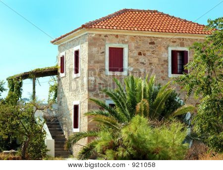 Traditional Greek Old  House