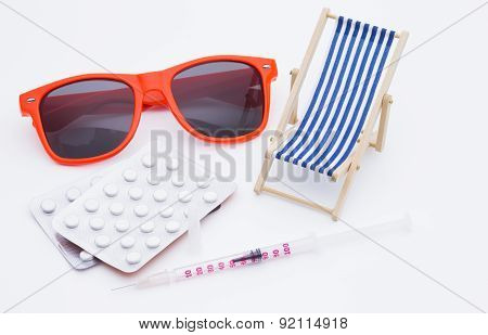Injection and deck chair