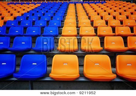 Color Seat In Football Stadium