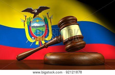 Ecuador Law And Justice Concept