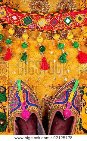 Ethnic Rajasthan Shoes And Belt