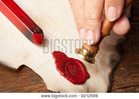 Hand With Wax Seal