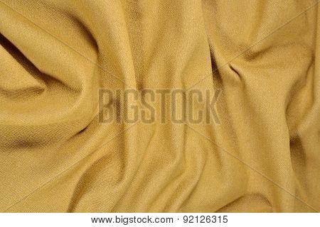 Yellow Crumpled Denim Background