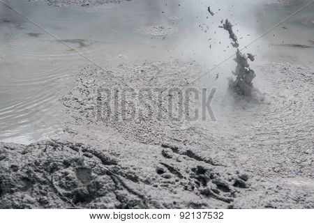 Geothermal activity near Rotorua in the Te Puia Park