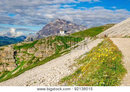 Trail around Tre Cime, Auronzo shelter Dolomites