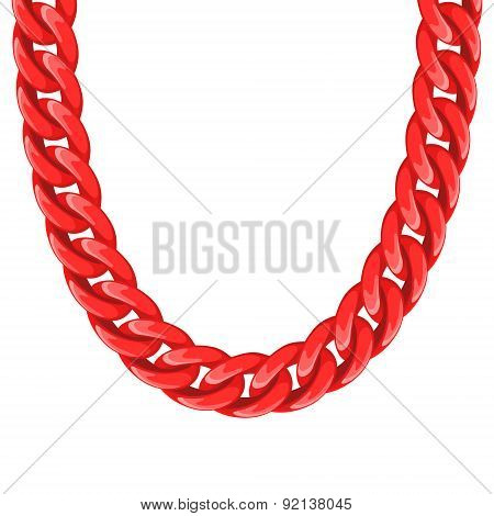 Chunky chain plastic red necklace or bracelet.