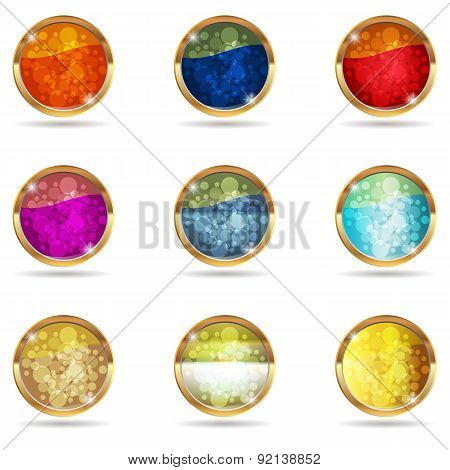Colourful Abstract Background Of Icons.