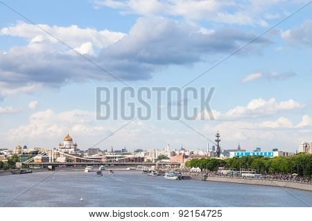Blue Cloudy Sky Over Moscow City, Russia