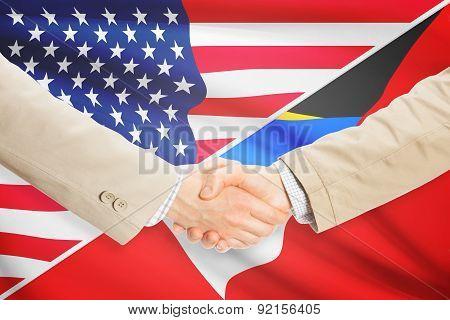 Businessmen Handshake - United States And Antigua And Barbuda