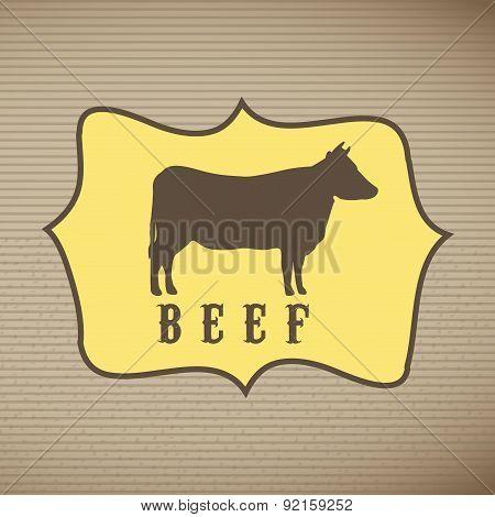 farm design over lineal background vector illustration